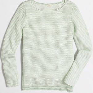 J Crew Chevron Boatneck Sweater